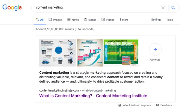 competitors featured snippets