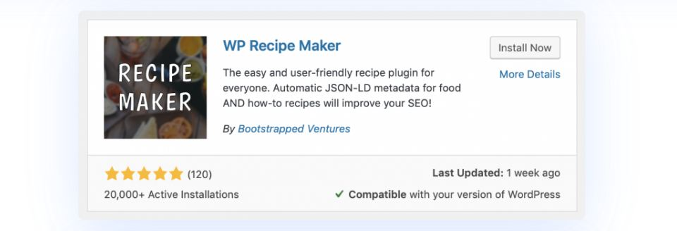 recipe maker plugin