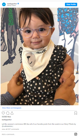 featuring a baby wearing ugc instagram