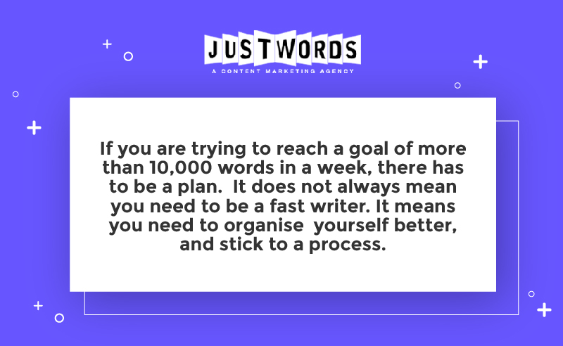 How to write 10000 words in a week ?