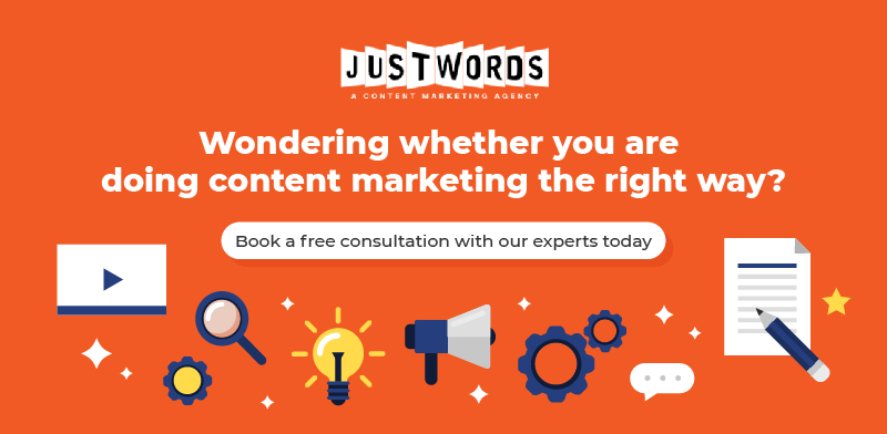 Do content marketing right way with justwords cta