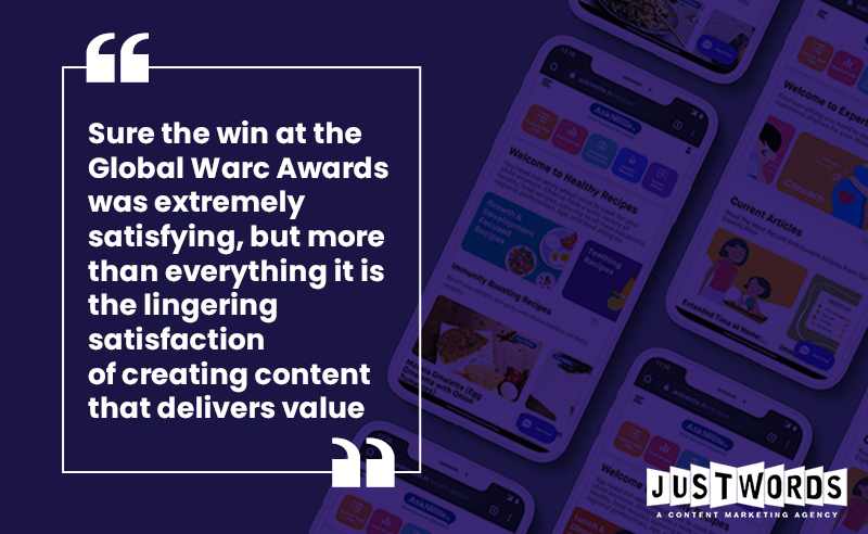 WARC Award With Good Content