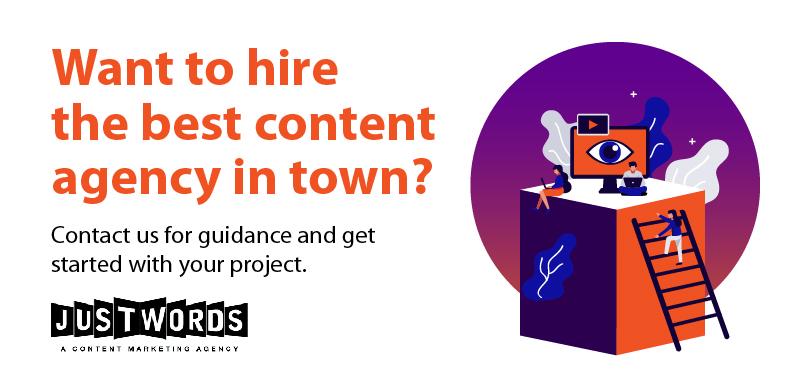 hiring content marketing agency justwords