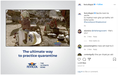 Fevicol Instagram pages