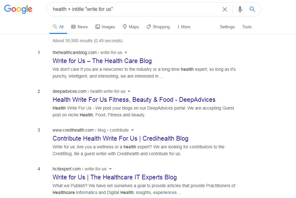 Guest Blog site search