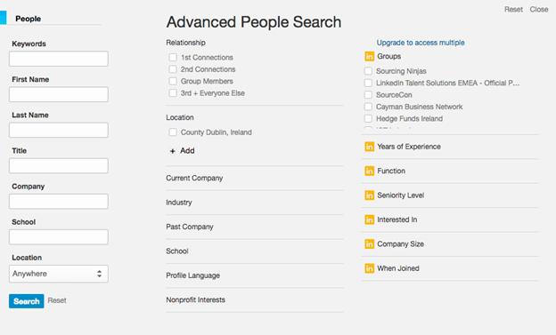 Use advanced LinkedIn search