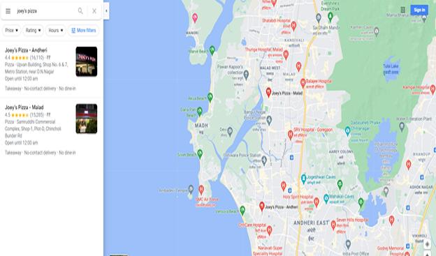 google map joy pizza