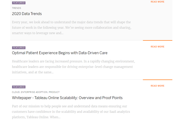 White Paper Examples from Tableau