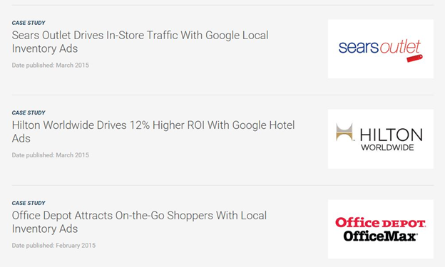 case studies done by Google Ads